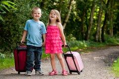 Kinderen op vakantie Stock Fotografie