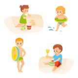 Kinderen op vakantie Stock Foto's