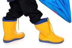 Kinderen rainboots Stock Afbeeldingen