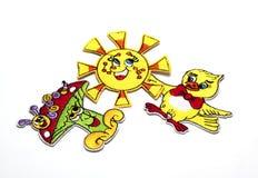 Kinderen` s gekleurde stickers voor de stof Stock Foto's