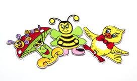 Kinderen` s gekleurde stickers voor de stof Royalty-vrije Stock Fotografie