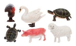 Kinderen` s speelgoed op witte geïsoleerde achtergrond stock afbeelding