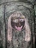 Kinderen` s tekening met krijt Stock Afbeeldingen
