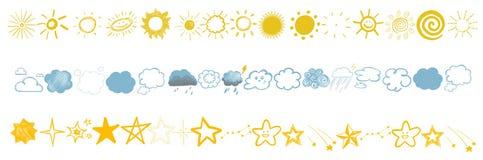 Kinderen` s tekeningen van de hemel Stock Foto's