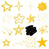 Kinderen` s tekeningen van sterren Royalty-vrije Stock Foto's