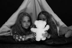 Kinderen` s vriendschap PJspartij voor kinderen als funtime concept Royalty-vrije Stock Afbeeldingen