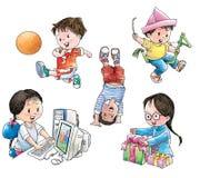 Kinderen in spel vector illustratie