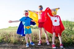 Kinderen super held Stock Fotografie