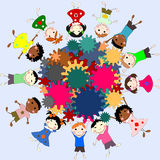 Kinderen - toekomstige meningen in de wereld, het concept kinderen Royalty-vrije Stock Afbeeldingen