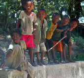 Kinderen van Afrika, Madagascar Stock Foto's