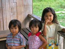 Kinderen van Borneo Stock Afbeelding