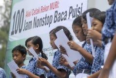 KINDEREN VAN DE BEVOLKING VAN INDONESIË Stock Fotografie