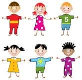 Kinderen van de wereld Stock Foto's