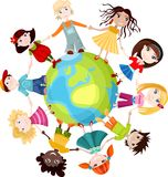 Kinderen van de wereld Stock Foto