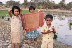 Kinderen van het Indische Dorp Stock Fotografie