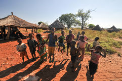 Kinderen van Mikuni-Dorp, Zambia Royalty-vrije Stock Foto's