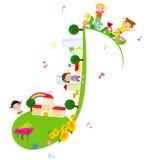 Kinderen van muziekschool stock illustratie