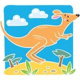 Kinderen vectorillustratie van weinig kangoeroe Stock Foto's