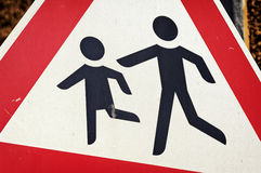 Kinderen - verkeersteken Stock Afbeeldingen