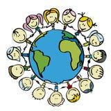 Kinderen voor vrede vector illustratie