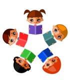 Kinderenbibliotheek Stock Foto's