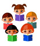 Kinderenbibliotheek Royalty-vrije Stock Foto's