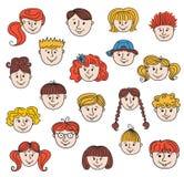 Kinderengezichten Royalty-vrije Stock Afbeelding