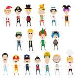 Kinderenjongens met verschillende kostuums Stock Fotografie