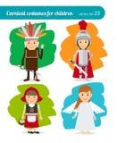 Kinderenkostuums royalty-vrije illustratie