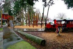Kinderenspeelplaats in West-Vancouver, Canada stock foto's