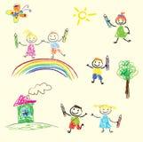 Kinderenspelen Stock Fotografie