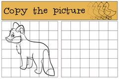Kinderenspelen: Kopieer het beeld Glimlachen van weinig de leuke babyvos vector illustratie