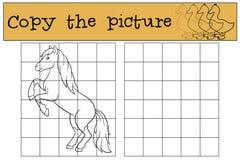 Kinderenspelen: Kopieer het beeld Leuk paard stock illustratie
