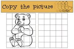 Kinderenspelen: Kopieer het beeld Leuk weinig draagt royalty-vrije illustratie