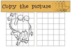 Kinderenspelen: Kopieer het beeld Leuke kameel vector illustratie