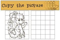 Kinderenspelen: Kopieer het beeld Weinig leuke egel royalty-vrije illustratie