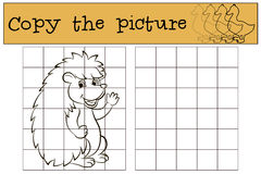 Kinderenspelen: Kopieer het beeld Weinig leuke egel vector illustratie
