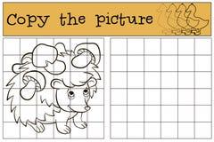 Kinderenspelen: Kopieer het beeld Weinig leuke egel stock illustratie