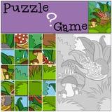 Kinderenspelen: Raadsel Weinig leuke egel royalty-vrije illustratie