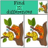 Kinderenspelen: Vind verschillen Stock Afbeeldingen