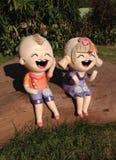 Kinderenstandbeelden Stock Afbeeldingen