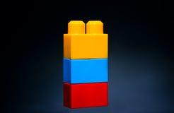 Kinderenstuk speelgoed blokken Stock Foto's