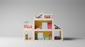 Kinderenstuk speelgoed in studioschot Royalty-vrije Stock Afbeelding
