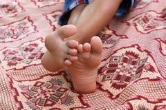 Kinderfüße Lizenzfreie Stockbilder
