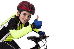 Kinderfahrradsportkleidung Stockfotografie