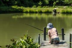 Kinderfischen Lizenzfreie Stockfotografie