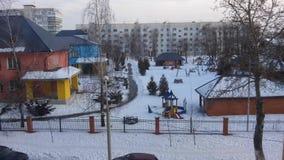 kindergarten Χειμώνας στοκ φωτογραφίες με δικαίωμα ελεύθερης χρήσης