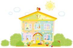 kindergarten illustration stock