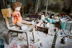 Kindergarten. Chernobyl area. Lost city Pripyat. Modern ruins. Ukraine. Kiev region Stock Photography