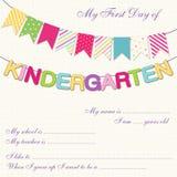 Kindergarten bunting Royalty Free Stock Photos